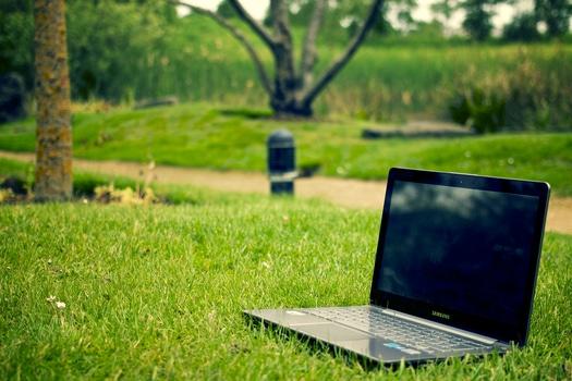 laptop-notebook-grass-meadow-medium